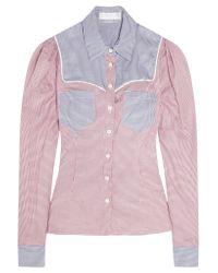Caroline Constas - Red Clementine Cotton Shirt - Lyst