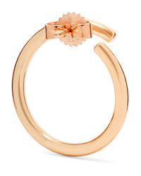 Saskia Diez - Metallic X Wire Gold-plated Earrings - Lyst