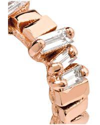 Suzanne Kalan - Pink 18-karat Rose Gold Diamond Earrings - Lyst