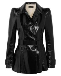 Bottega Veneta - Black Patent-leather Jacket - Lyst