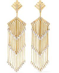 Yvonne Léon - Metallic 18-karat Gold Diamond Earrings - Lyst