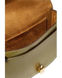 Victoria Beckham - Green Half Moon Box Leather Shoulder Bag - Lyst
