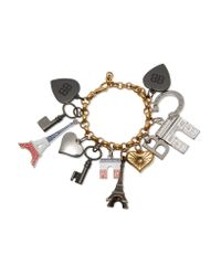 Balenciaga - Metallic Gold-tone Charm Bracelet - Lyst