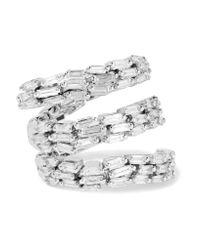 Suzanne Kalan - Metallic 18-karat White Gold Diamond Ring - Lyst