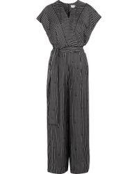 Diane von Furstenberg - Black Printed Silk Jumpsuit - Lyst