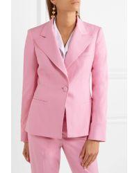 Oscar de la Renta - Pink Wool-blend Gabardine Blazer - Lyst