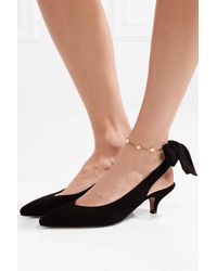 Arme De L'Amour - Metallic Leather And Gold-plated Anklet - Lyst
