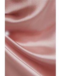 Fleur du Mal - Pink Satin Trench Coat - Lyst