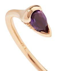 Fernando Jorge - Metallic Sprout 18-karat Rose Gold, Amethyst And Diamond Ring Rose Gold 6 1/4 - Lyst