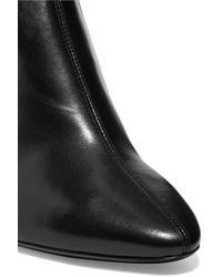Saint Laurent - Black Loulou Leather Over-the-knee Boots - Lyst