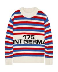 Sonia Rykiel - Red Oversized Intarsia Wool Sweater - Lyst