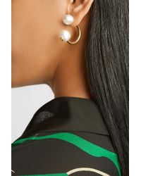 Gucci - Metallic Gold-plated Faux Pearl Earring - Lyst