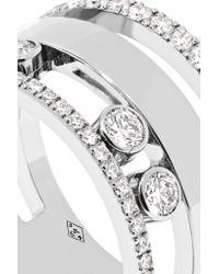 Messika - Metallic Move Romane Large 18-karat White Gold Diamond Ring - Lyst