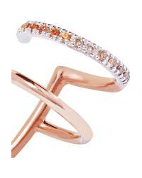 Maria Black - Multicolor Laurel 14-karat Rose Gold, Diamond And Sapphire Ear Cuff - Lyst