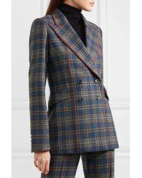 Gabriela Hearst | Blue Angela Checked Merino Wool Blazer | Lyst