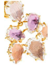 Larkspur & Hawk - Purple Caterina Gold-dipped Quartz Earrings - Lyst