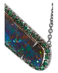 Kimberly Mcdonald - Metallic 18-karat Blackened White Gold, Opal And Emerald Necklace - Lyst