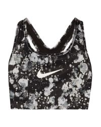 Nike | Black Pro Classic Printed Dri-fit Stretch Sports Bra | Lyst