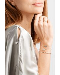 Jennifer Meyer - Metallic Flower 18-karat Gold, Diamond And Turquoise Cuff - Lyst