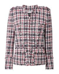 Balmain Black Frayed Tweed Blazer