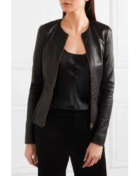 The Row - Black Anasta Leather Jacket - Lyst