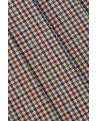 Maison Margiela - Gray Checked Pleated Wool, Mohair And Silk-blend Midi Skirt - Lyst
