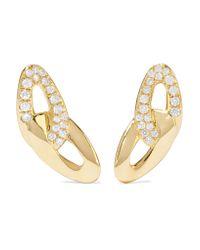 Ippolita - Metallic Cherish Bond 18-karat Gold Diamond Earrings - Lyst