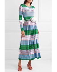 Stine Goya - Green Joel Striped Stretch-jersey Midi Dress - Lyst