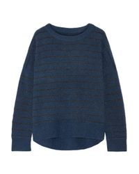 By Malene Birger - Blue Andoles Metallic Striped Knitted Sweater - Lyst