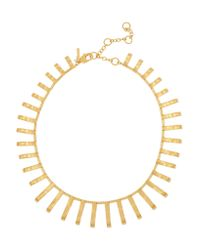 Lele Sadoughi - Metallic Arcade Gold-plated Necklace - Lyst
