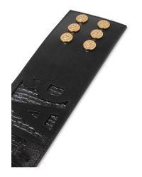 Balmain - Black Textured-leather Belt - Lyst