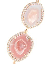 Kimberly Mcdonald | Pink 18-karat Rose Gold, Geode And Diamond Earrings | Lyst
