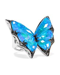 Stephen Webster - Blue Fly By Night 18-karat White Gold Multi-stone Ring - Lyst