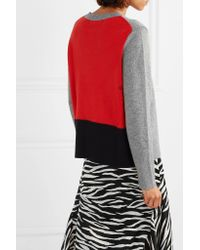 Chinti & Parker - Gray Color-block Cashmere Sweater - Lyst