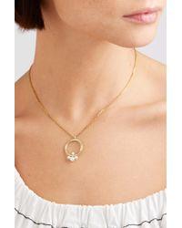 Anissa Kermiche - Metallic Pompadour 14-karat Gold, Diamond And Pearl Necklace - Lyst