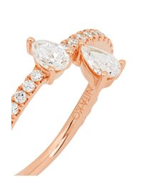 Anita Ko - Metallic Princess 18-karat Rose Gold Diamond Ring - Lyst