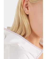 Wwake - Metallic Nugget 10-karat Gold Diamond Earring - Lyst