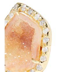 Kimberly Mcdonald - Metallic 18-karat Gold, Geode And Diamond Earrings - Lyst