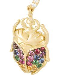 Aurelie Bidermann | Metallic 18-karat Gold Multi-stone Beetle Earrings | Lyst