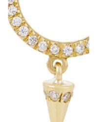 Ileana Makri - Metallic Spike 18-karat Gold Diamond Nose Ring - Lyst