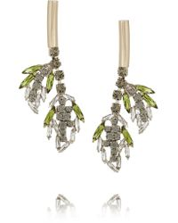 Marni - Green Gold-plated Crystal Earrings - Lyst