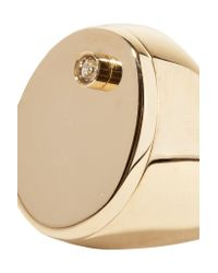 Maison Margiela - Metallic Gold-tone Crystal Ring - Lyst