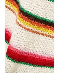 Saint Laurent White Striped Wool Sweater