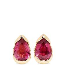 Fernando Jorge | Metallic Bloom 18-karat Rose Gold, Tourmaline And Diamond Earrings | Lyst