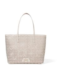 Elizabeth and James | White Daily Laser-cut Leather Tote | Lyst