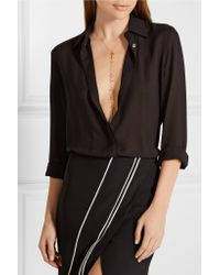 Arme De L'Amour - Metallic Triangle Gold-plated Body Chain - Lyst