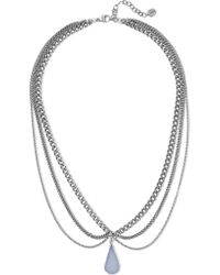 Chan Luu | Metallic Silver-plated Agate Necklace | Lyst