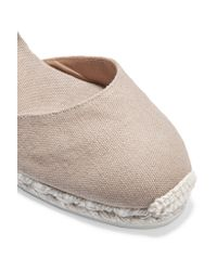 Castaner - Natural Carina Canvas Wedge Espadrilles - Lyst