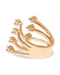 Delfina Delettrez | Multicolor 18-karat Rose Gold Diamond Ring | Lyst