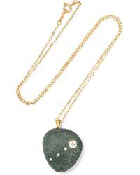 CVC Stones | Metallic Moses 18-karat Gold, Stone And Diamond Necklace | Lyst
